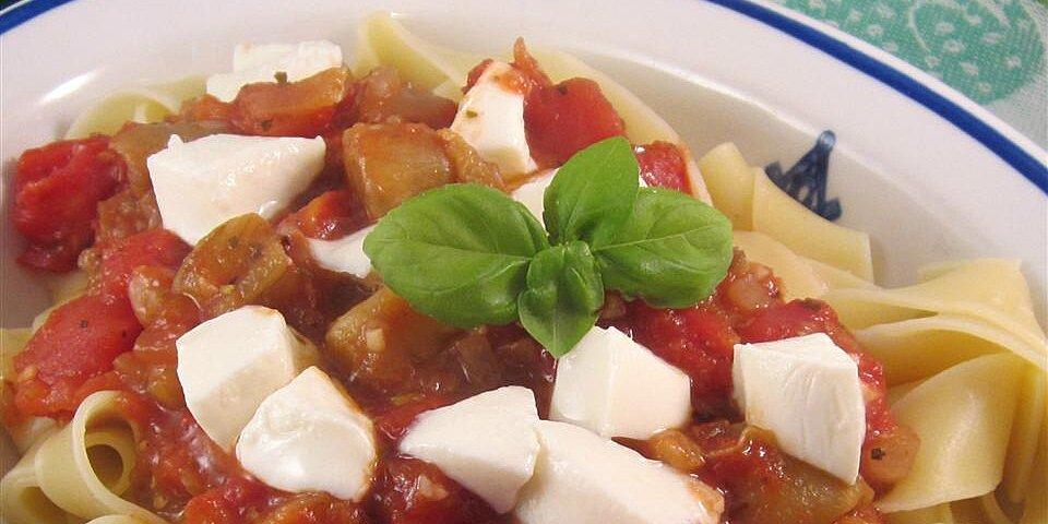 mediterranean style eggplant pasta recipe