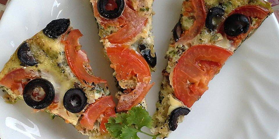 vegetable pizza frittata recipe