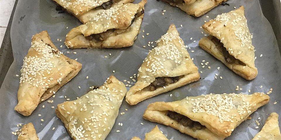 brie and mushroom phyllo puffs recipe