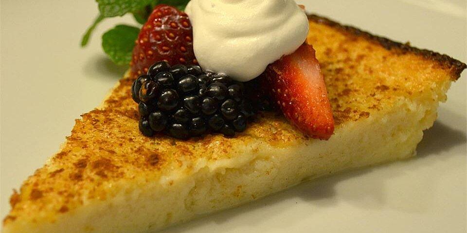 egg custard pie i recipe