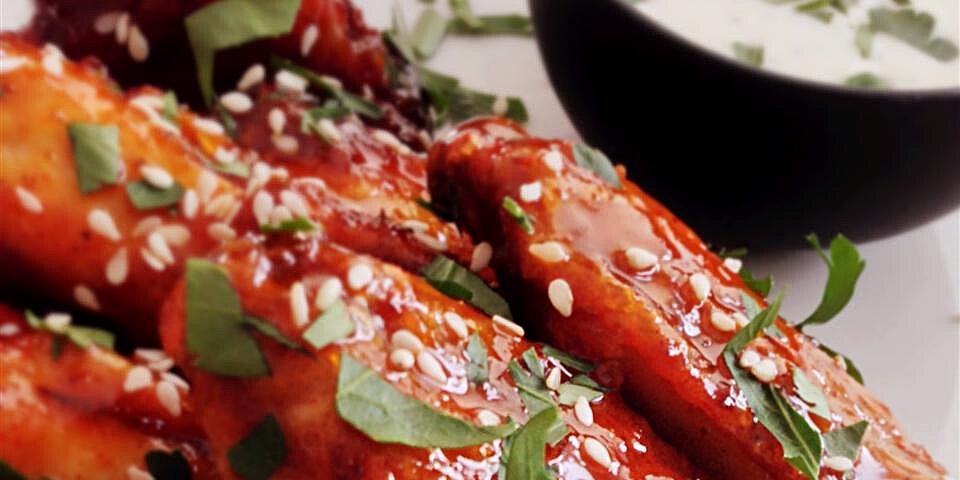crispy honey sriracha chicken wings recipe
