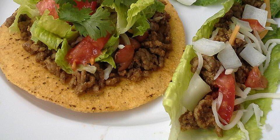 ground beef with homemade taco seasoning mix recipe