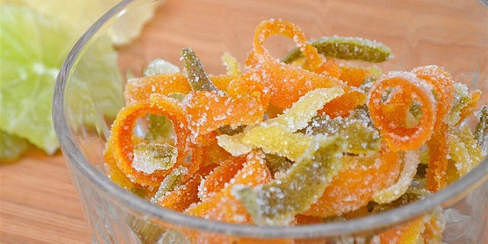 sweet candied orange and lemon peel recipe