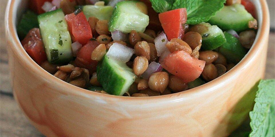 lentil salad with a persian twist recipe