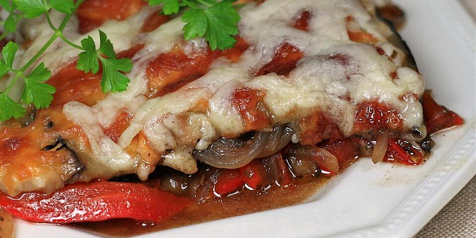 eggplant and red pepper bake recipe