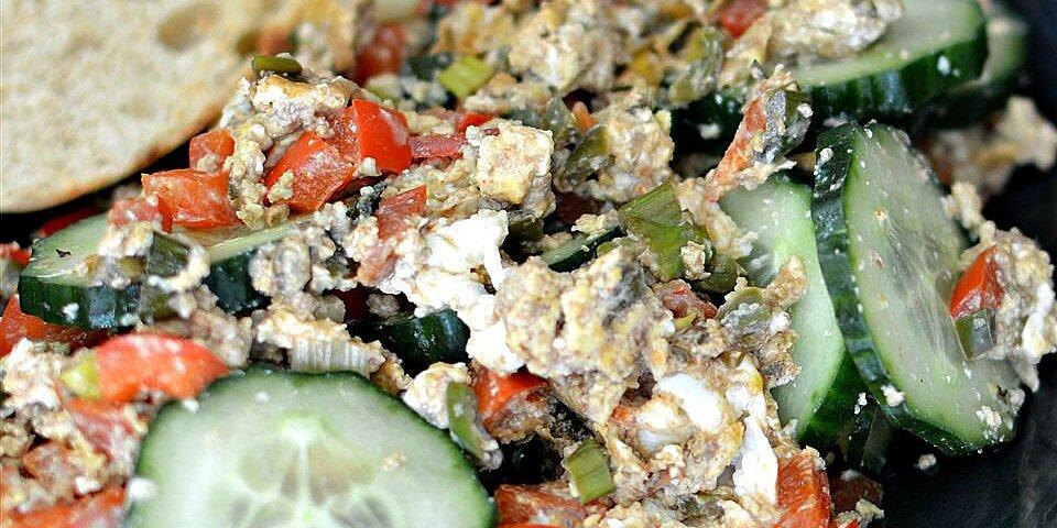 spicy egg cucumber salad recipe