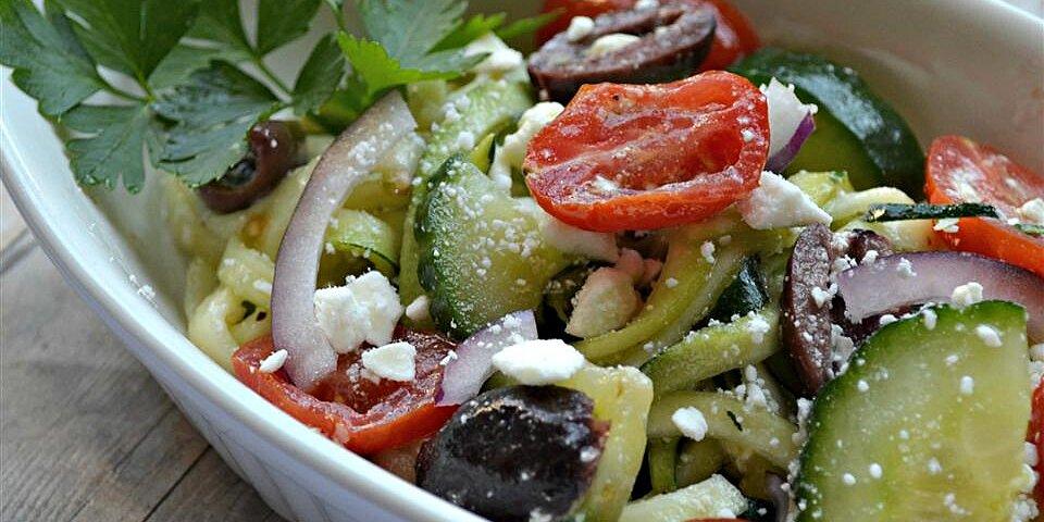 greek zoodle salad recipe