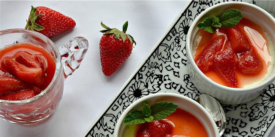 back to white chocolate panna cotta with stewed strawberries recipe