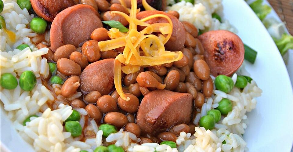 dogs n beans rice bowl