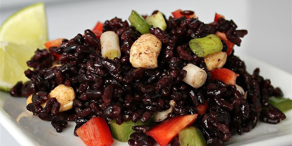 spicy forbidden rice salad recipe
