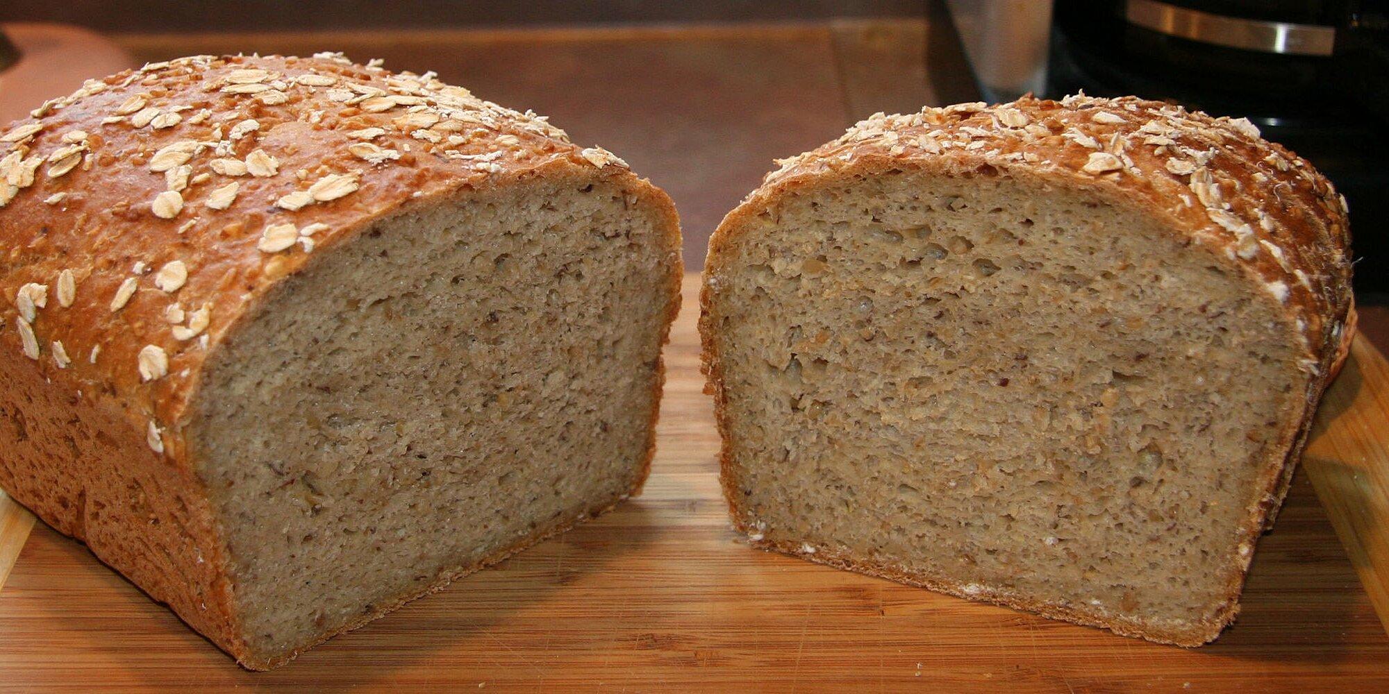 whole wheat and steel cut oats bread a long fermentation