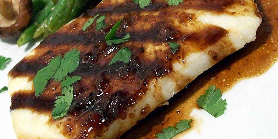 halibut with rice wine