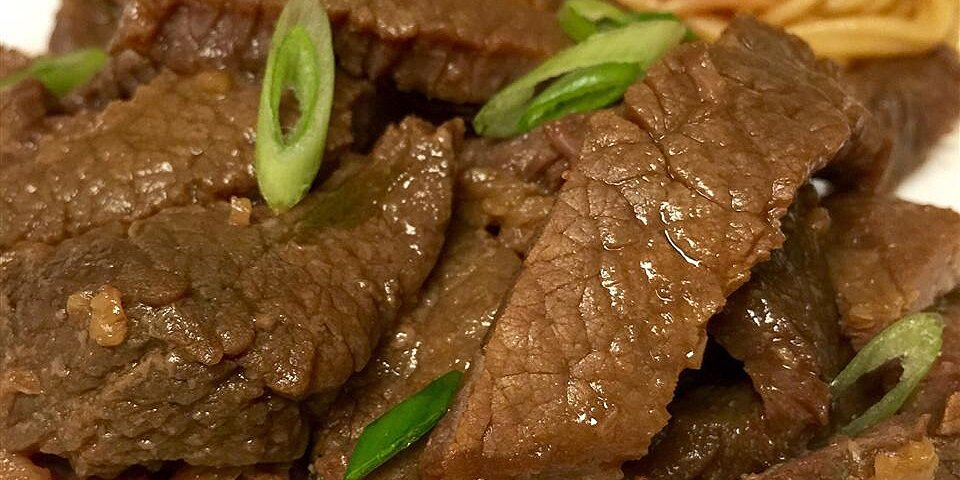 mongolian beef from the slow cooker recipe