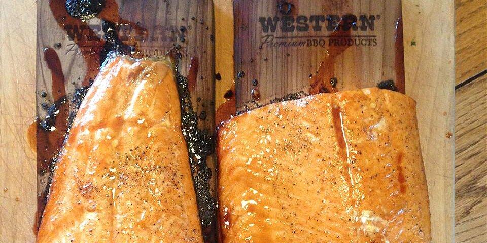 pepper honey cedar plank salmon recipe