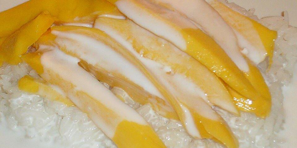sweet rice and mango recipe
