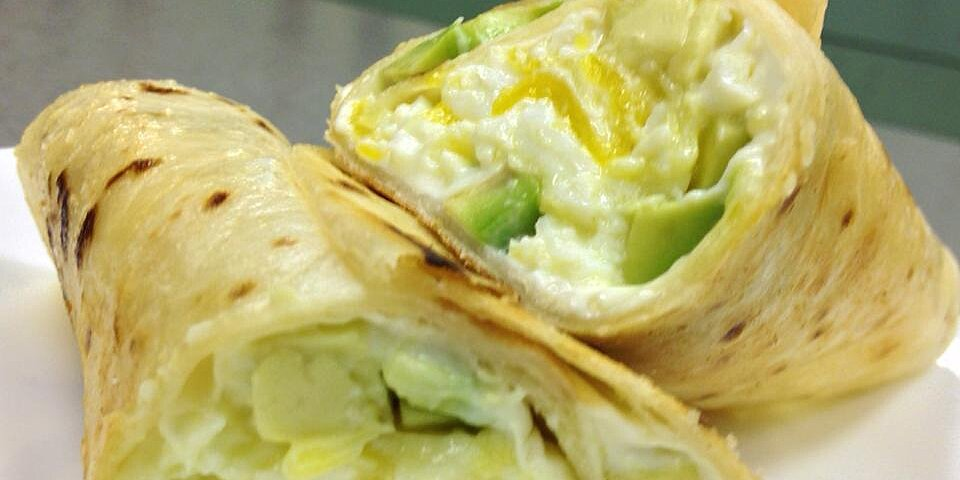 avocado cream cheese and egg burrito recipe