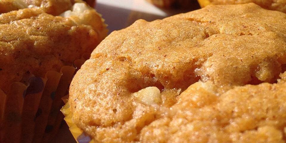 white chocolate pumpkin spice muffins recipe