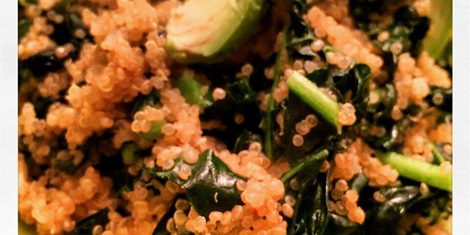 garlic kale quinoa recipe