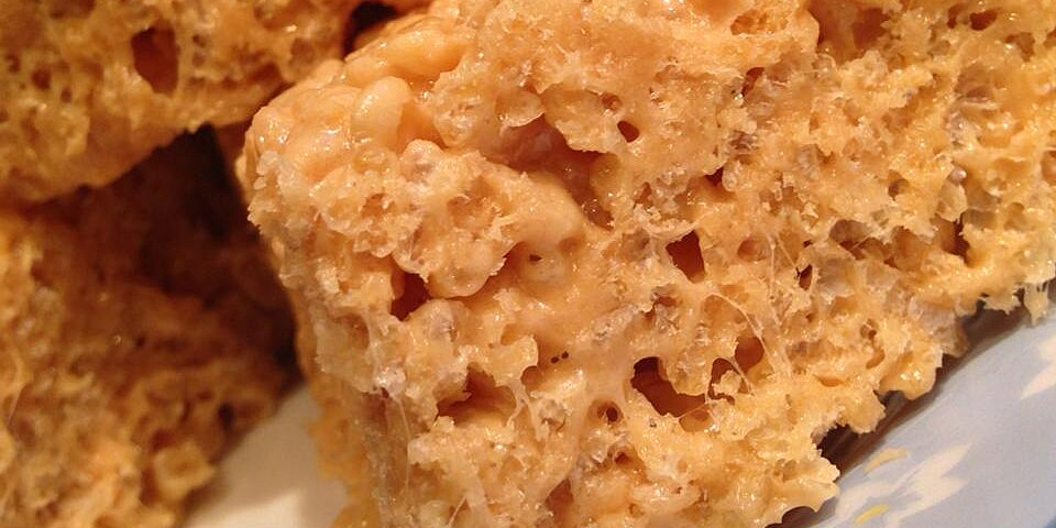 caramel crispy rice treats recipe