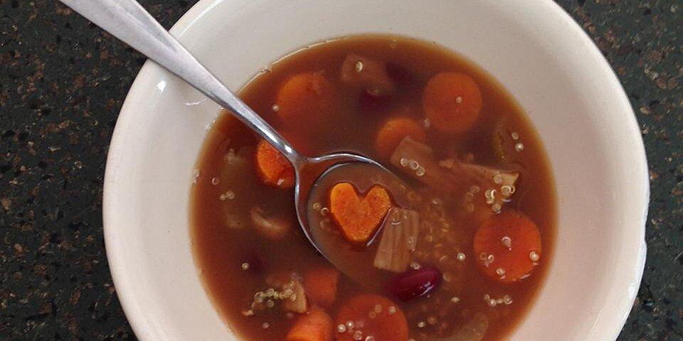 spicy vegan lentil quinoa soup recipe