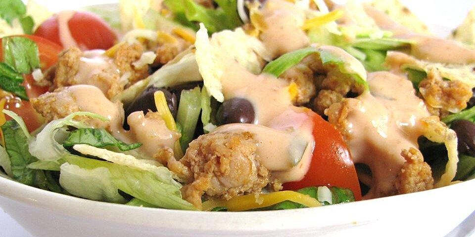 grandmas easy turkey taco salad recipe