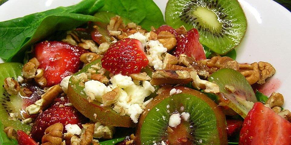 strawberry kiwi and spinach salad recipe