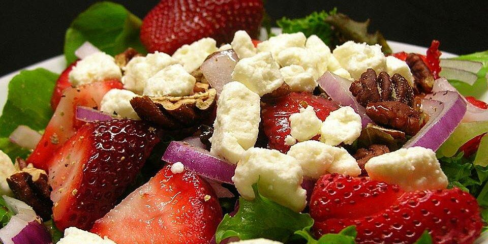 strawberry fields mixed greens salad recipes