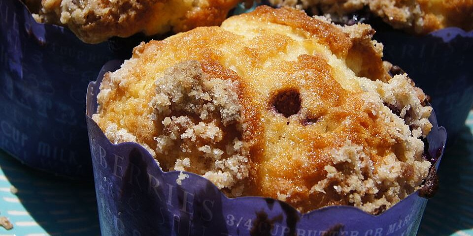 mango blueberry muffins with coconut streusel recipe