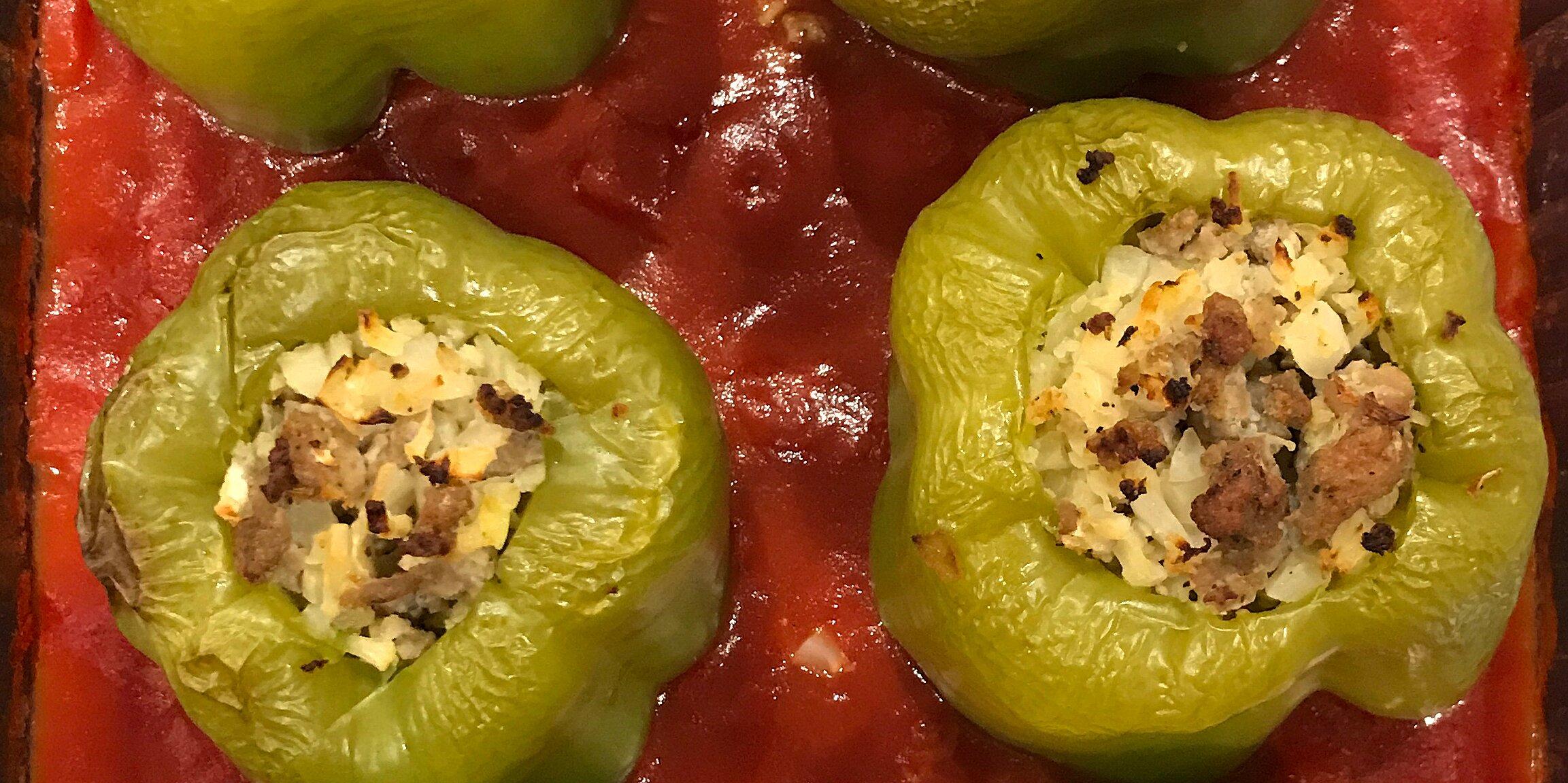 stuffed bell peppers greek style recipe