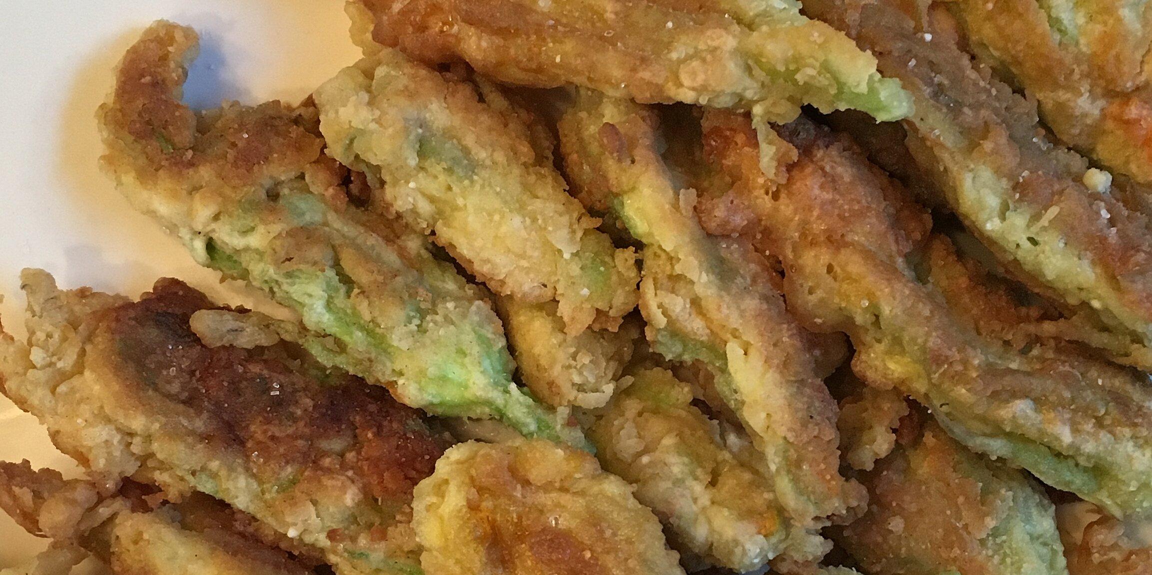 fried squash blossoms recipe