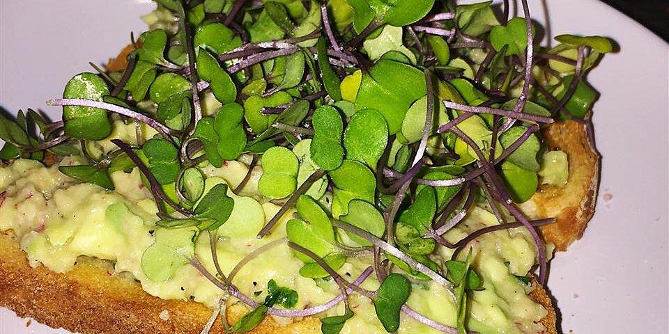 lemony avocado toast recipe