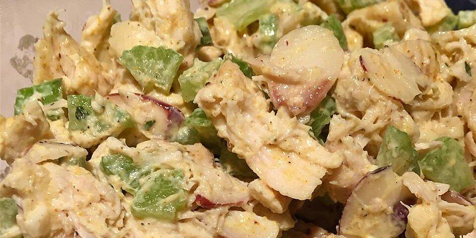 curried chicken salad with greek yogurt recipe