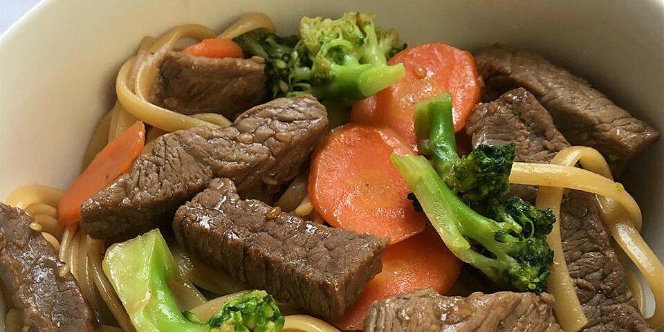 shortcut beef noodle bowl recipe