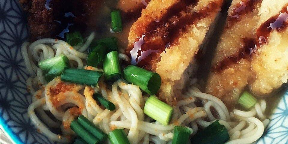 tonkatsu shoyu ramen pork cutlet soy sauce ramen recipe