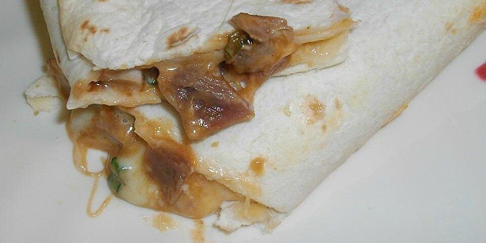leftover pork roast bbq wrap recipe