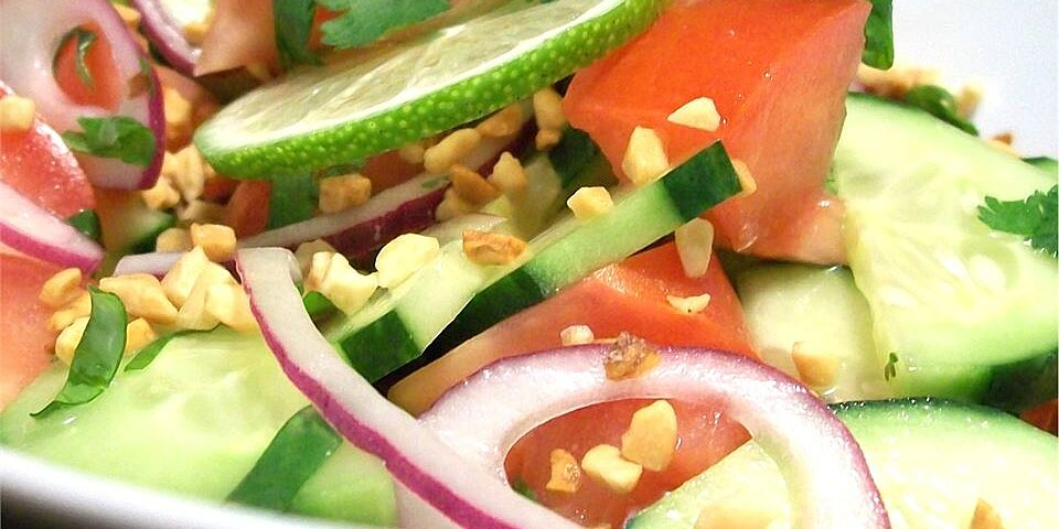 thai cucumber tomato salad recipe