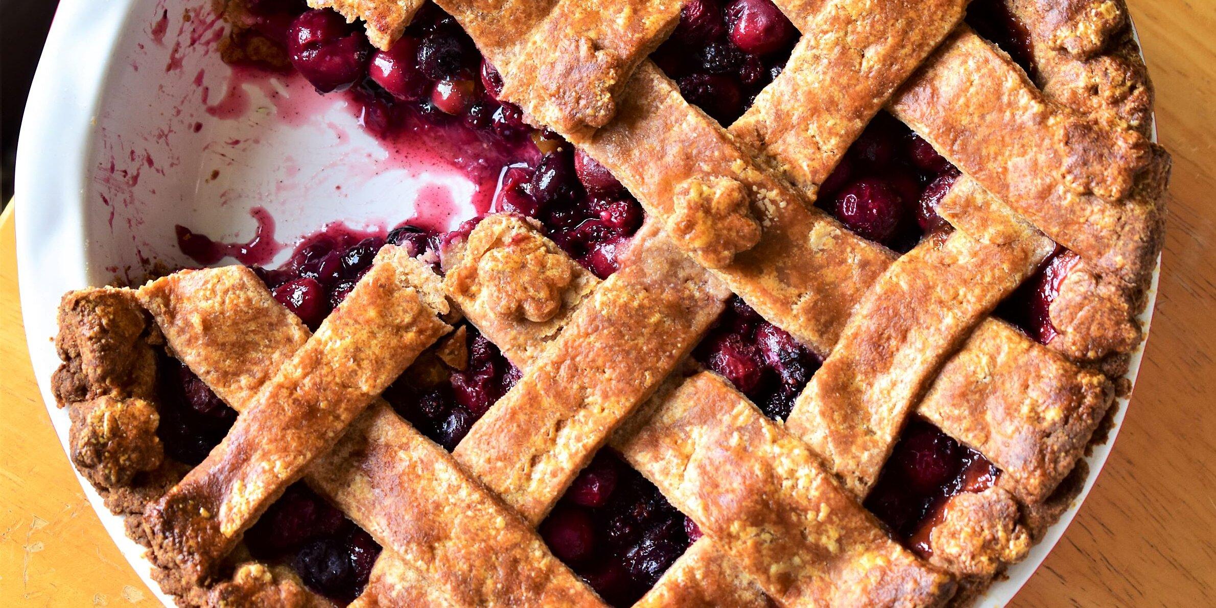 cherry berry pie with whole wheat pie crust recipe