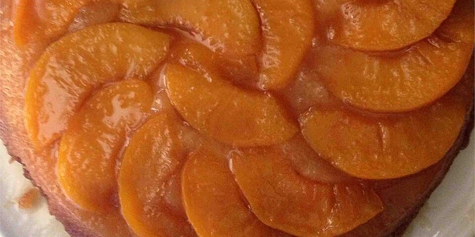peach upside down cake ii recipe