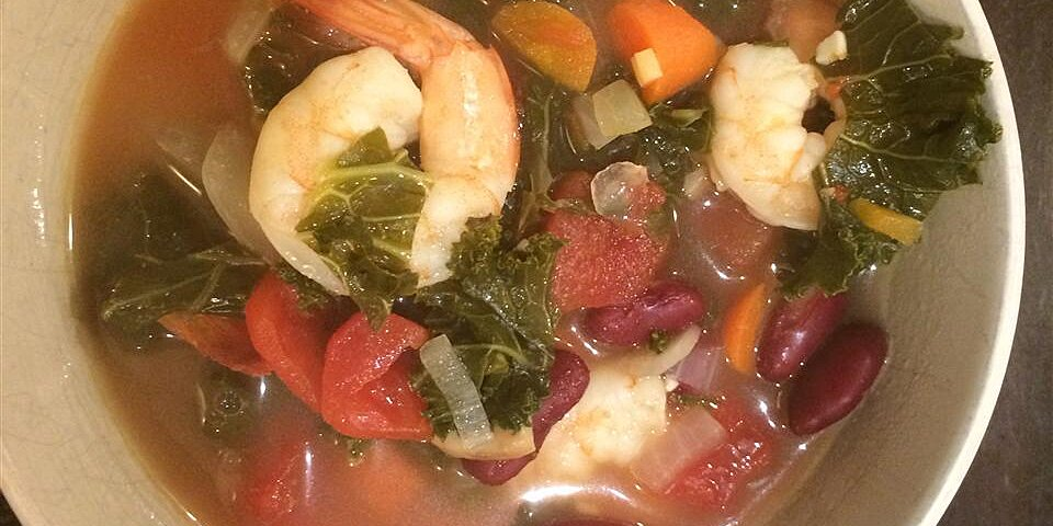 spicy kale and shrimp soup recipe