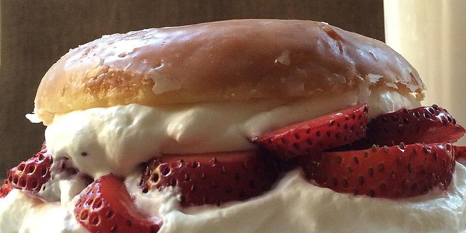 glazed doughnut strawberry shortcake recipe