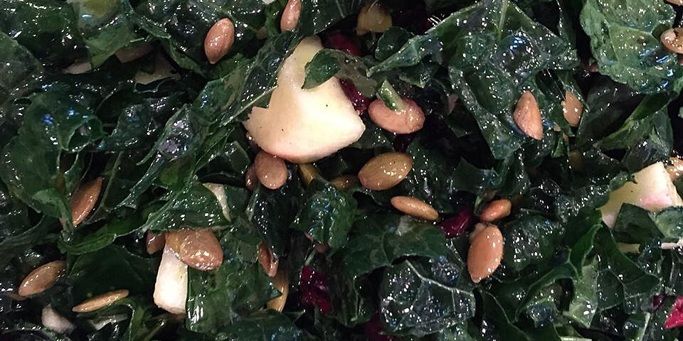 kale salad with apple and cranberries recipe