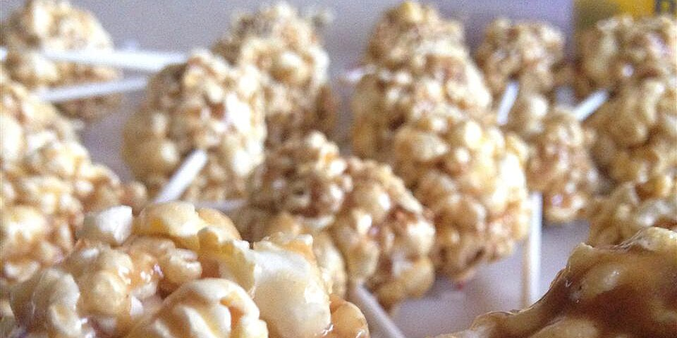 peanut butter popcorn balls recipe