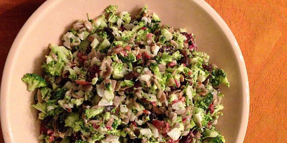 bacon broccoli salad with raisins and sunflower seeds recipe