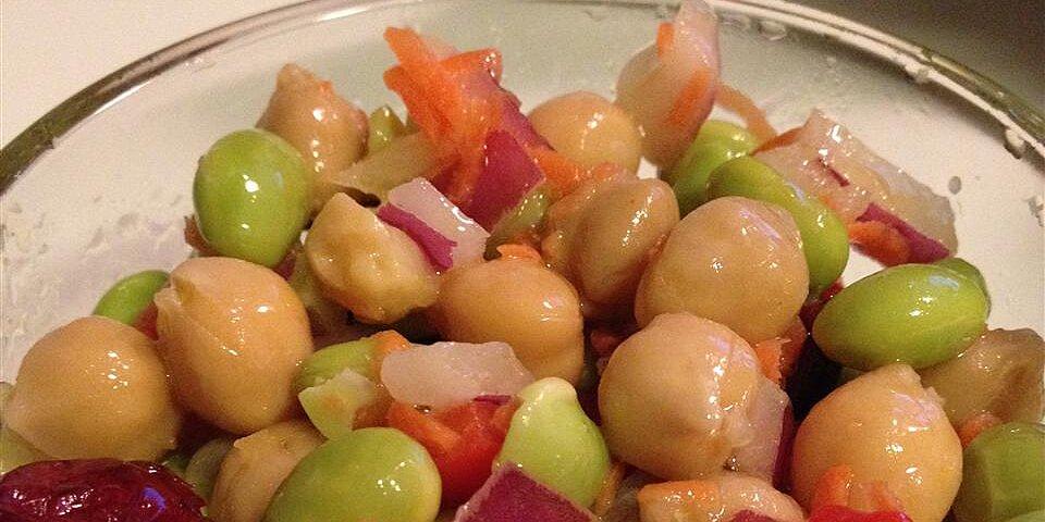 chickpea and edamame salad recipe
