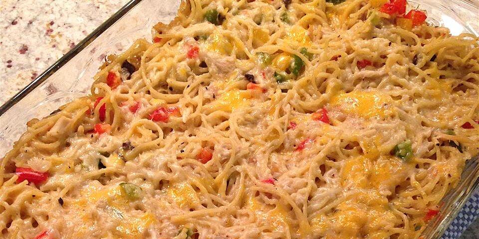 spaghetti chicken casserole recipe