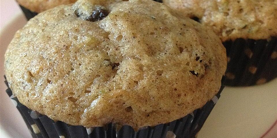 zucchini raisin muffins recipe