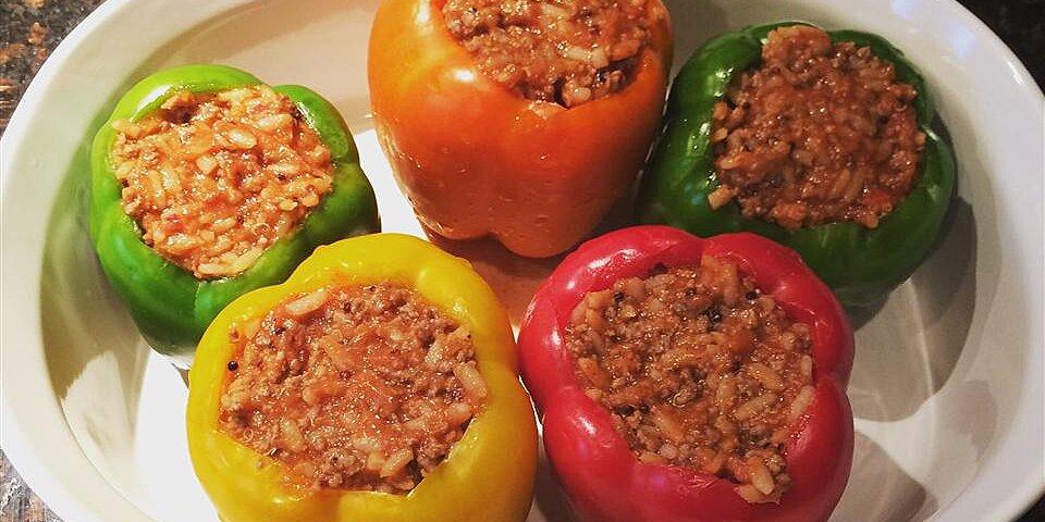 healthier stuffed peppers recipe