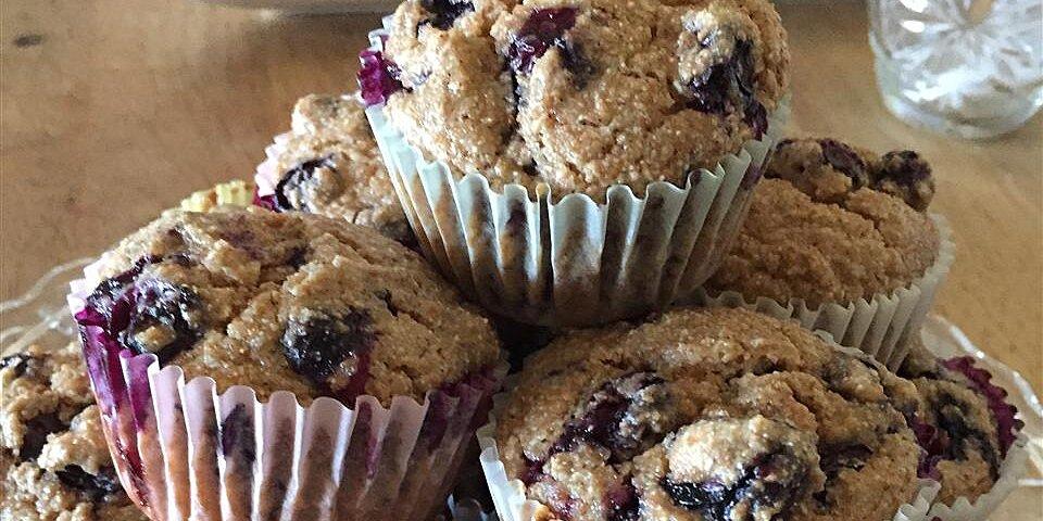jumbo whole wheat blueberry muffins recipe