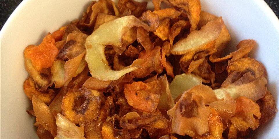 root veggie crisps with greek yogurt dip recipe