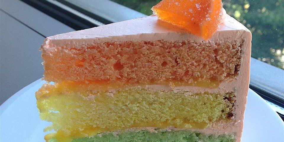 rainbow citrus cake recipe